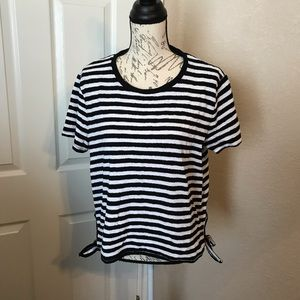 Madewell Strip Sid-Tie T-Shirt.